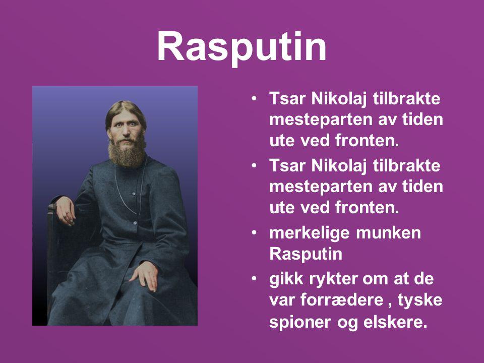 Rasputin Tsar Nikolaj tilbrakte mesteparten av tiden ute ved fronten.