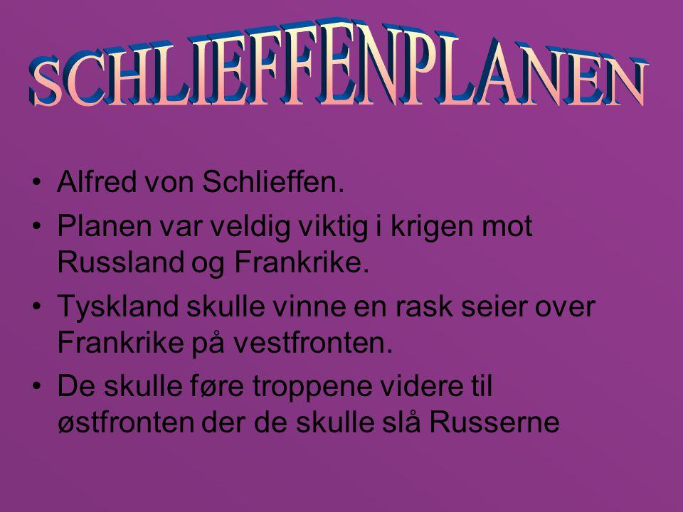 SCHLIEFFENPLANEN Alfred von Schlieffen.