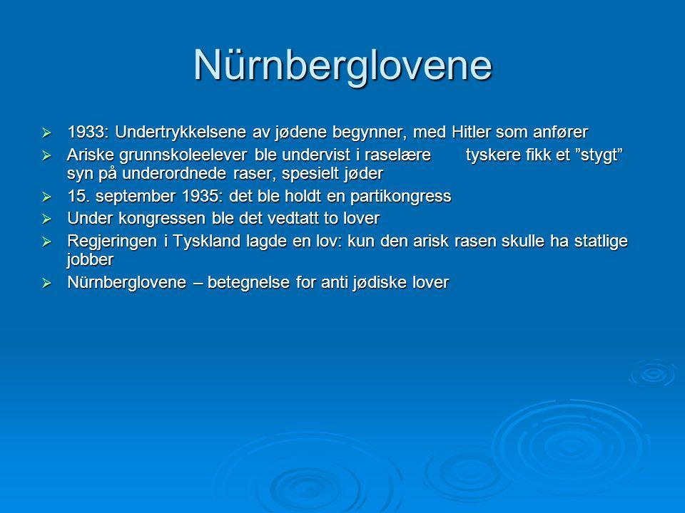 Nürnberglovene 1933: Undertrykkelsene av jødene begynner, med Hitler som anfører.