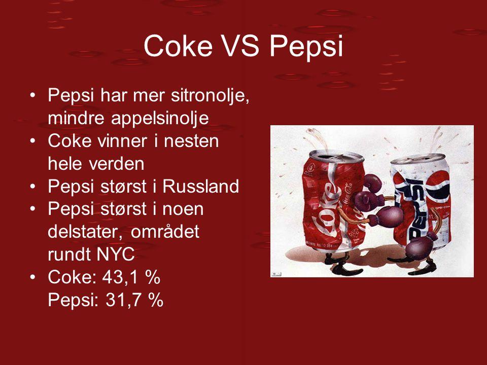 Coke VS Pepsi Pepsi har mer sitronolje, mindre appelsinolje