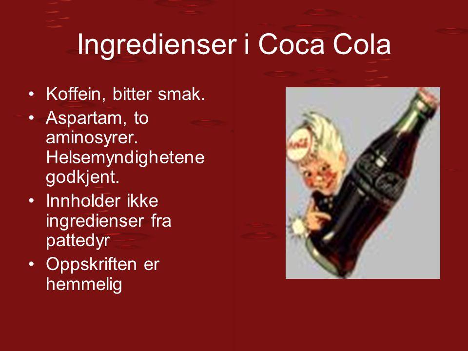 Ingredienser i Coca Cola