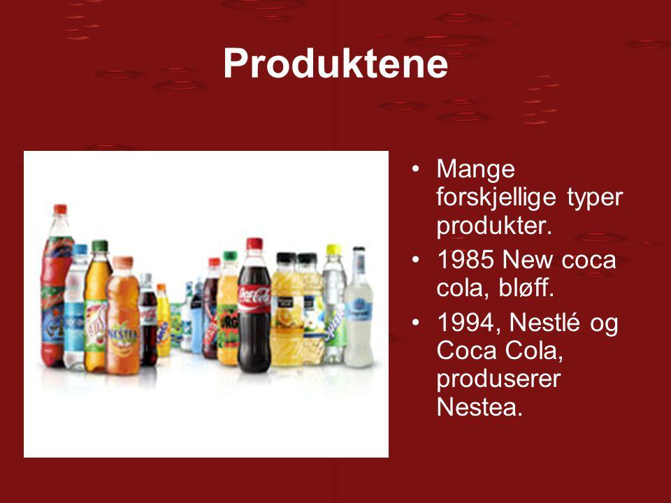 Produktene Mange forskjellige typer produkter.