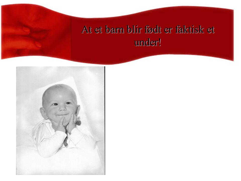 At et barn blir født er faktisk et under!