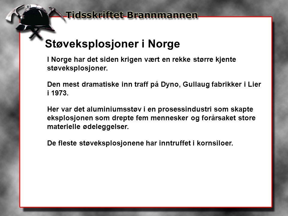 Støveksplosjoner i Norge
