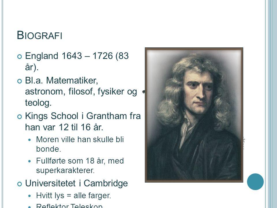 Biografi England 1643 – 1726 (83 år).