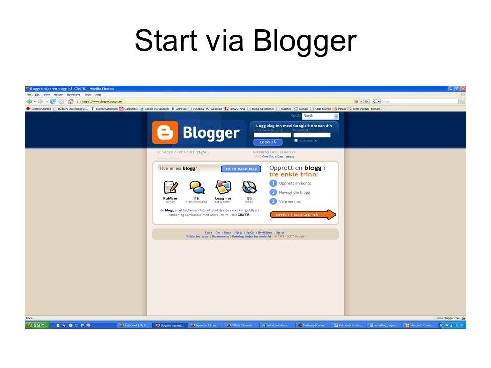 Start via Blogger