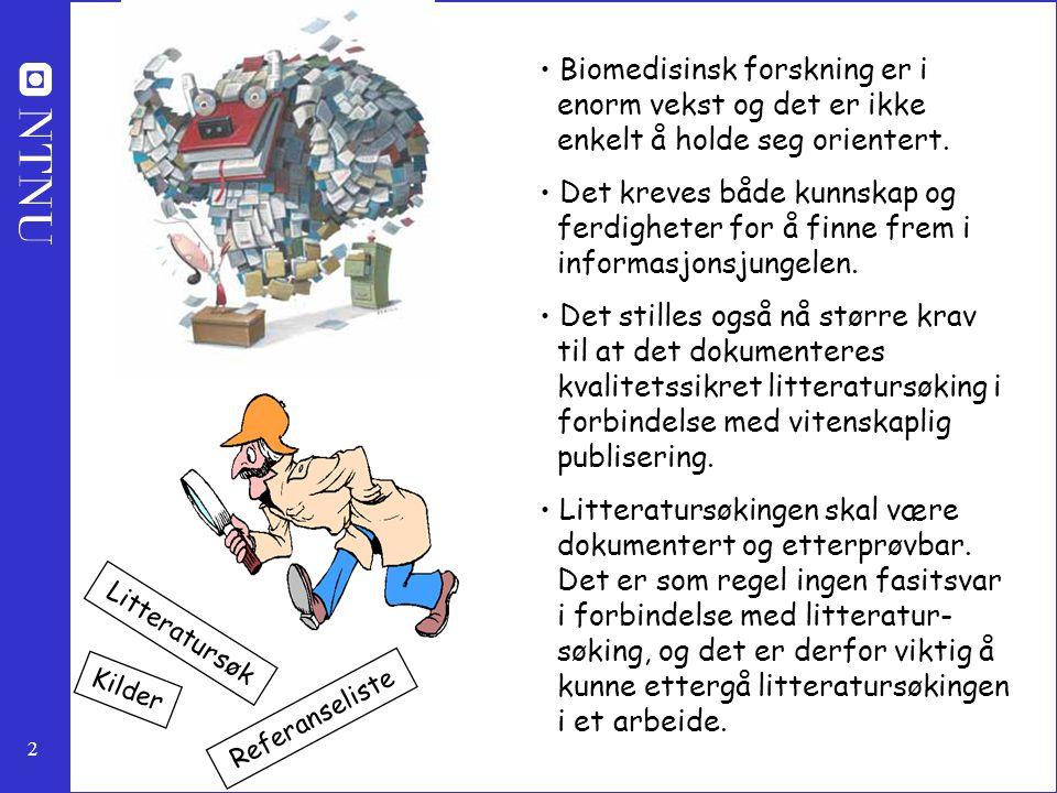 Biomedisinsk forskning er i enorm vekst og det er ikke enkelt å holde seg orientert.