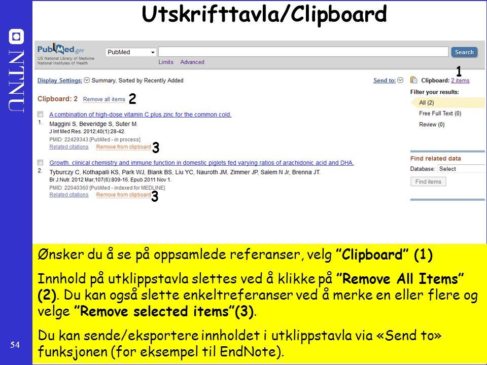 Utskrifttavla/Clipboard