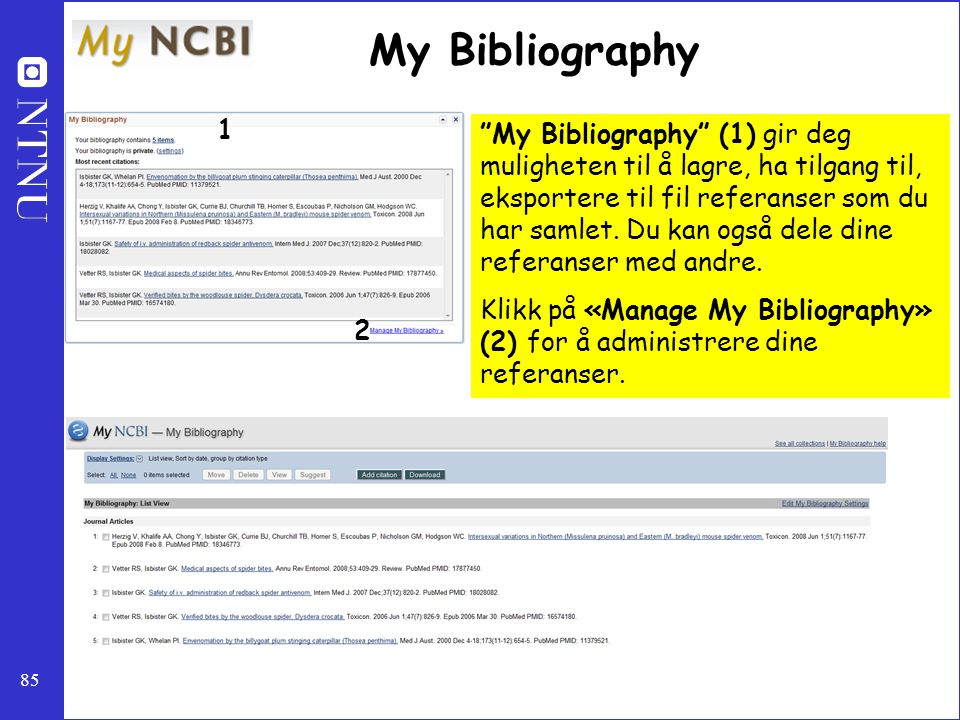 My Bibliography 1.