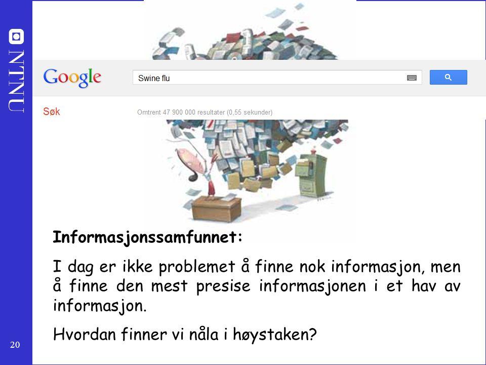 Informasjonssamfunnet: