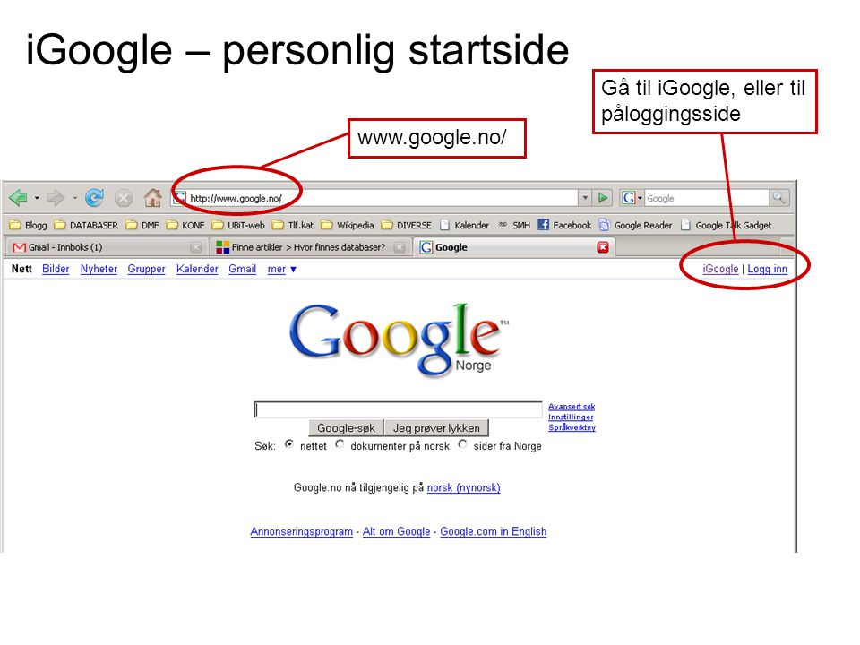 iGoogle – personlig startside