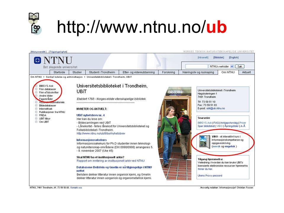 http://www.ntnu.no/ub URL: