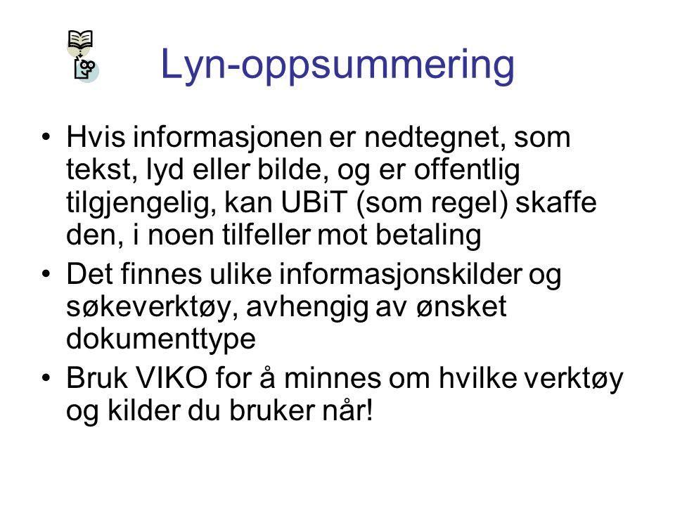 Lyn-oppsummering