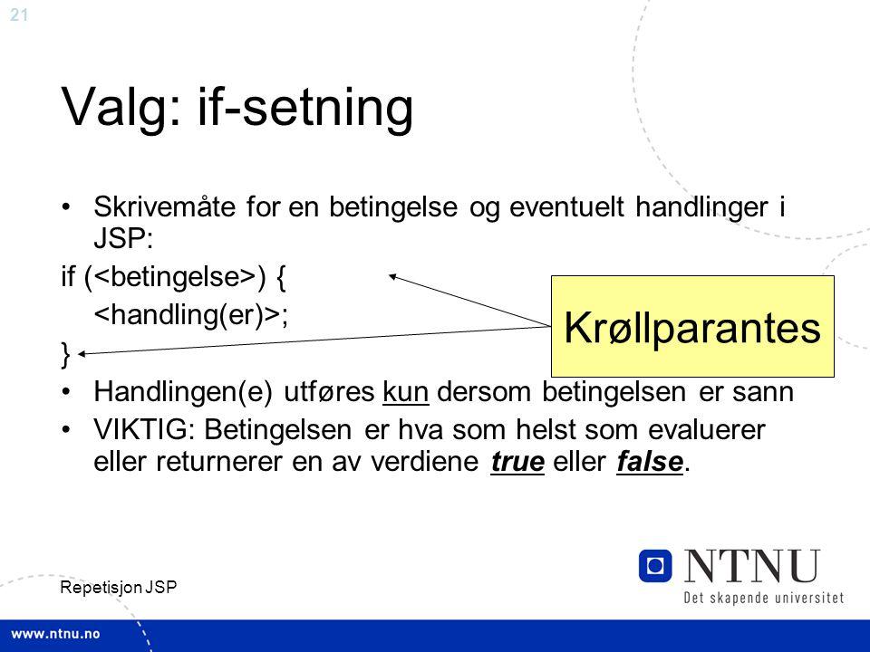 Valg: if-setning Krøllparantes