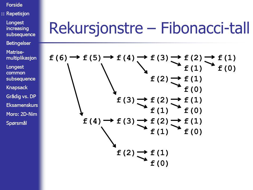 Rekursjonstre – Fibonacci-tall