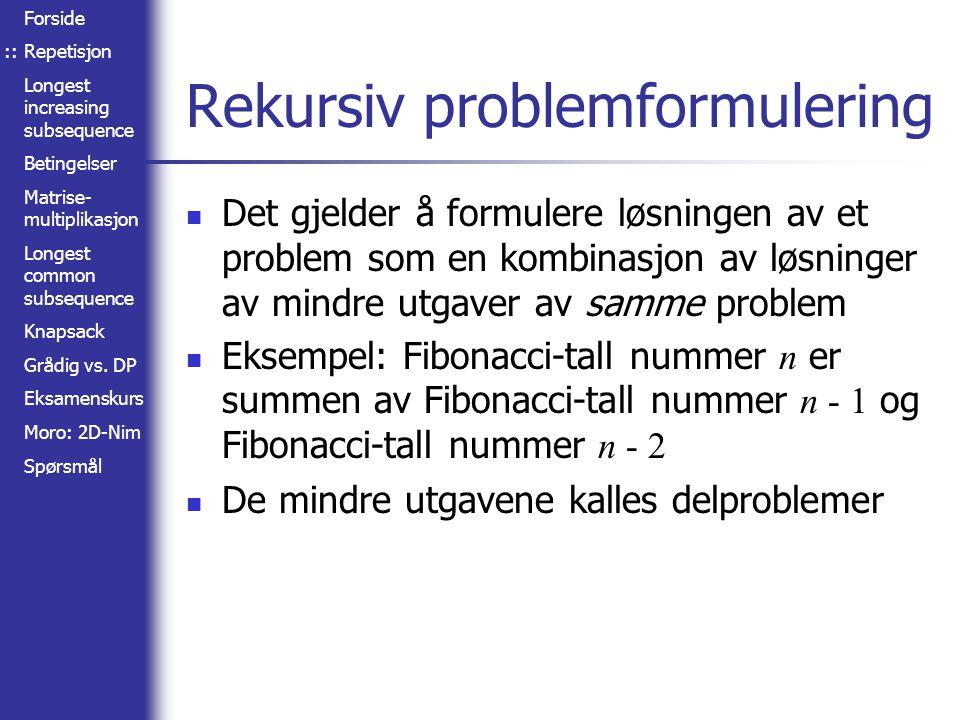 Rekursiv problemformulering