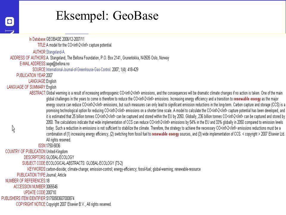 Eksempel: GeoBase Roar.storleer@ub.ntnu.no