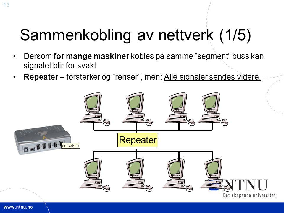 Sammenkobling av nettverk (1/5)