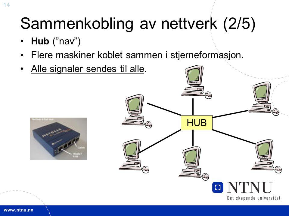 Sammenkobling av nettverk (2/5)