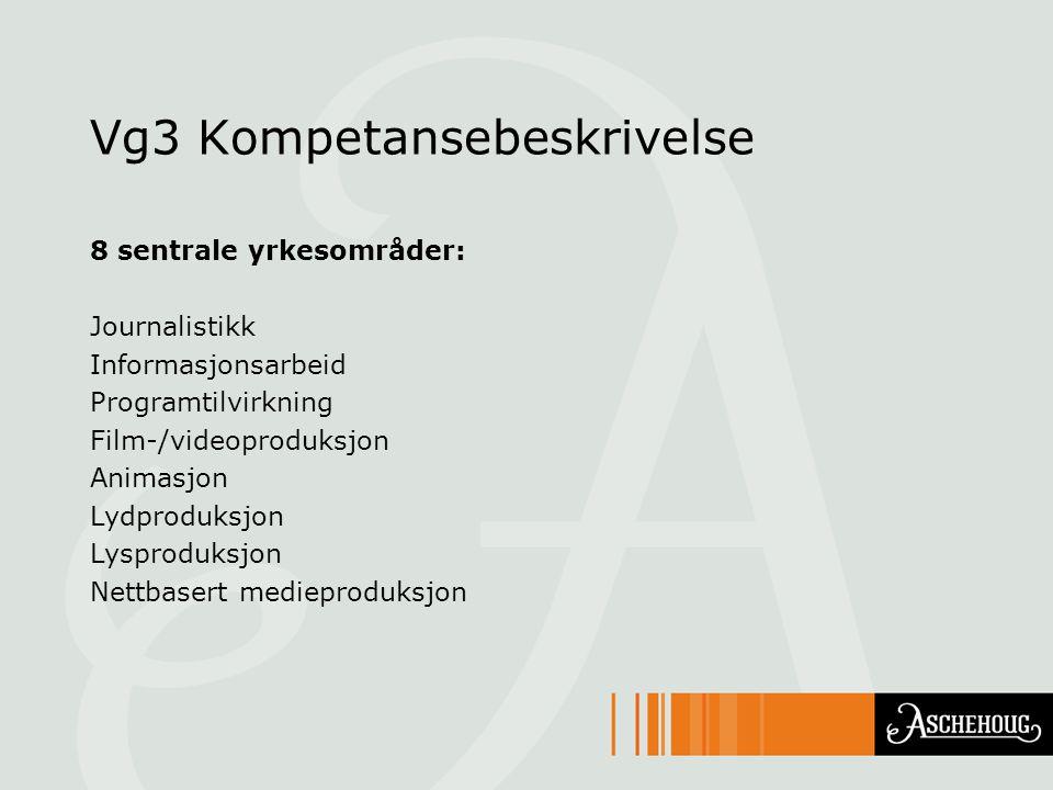 Vg3 Kompetansebeskrivelse