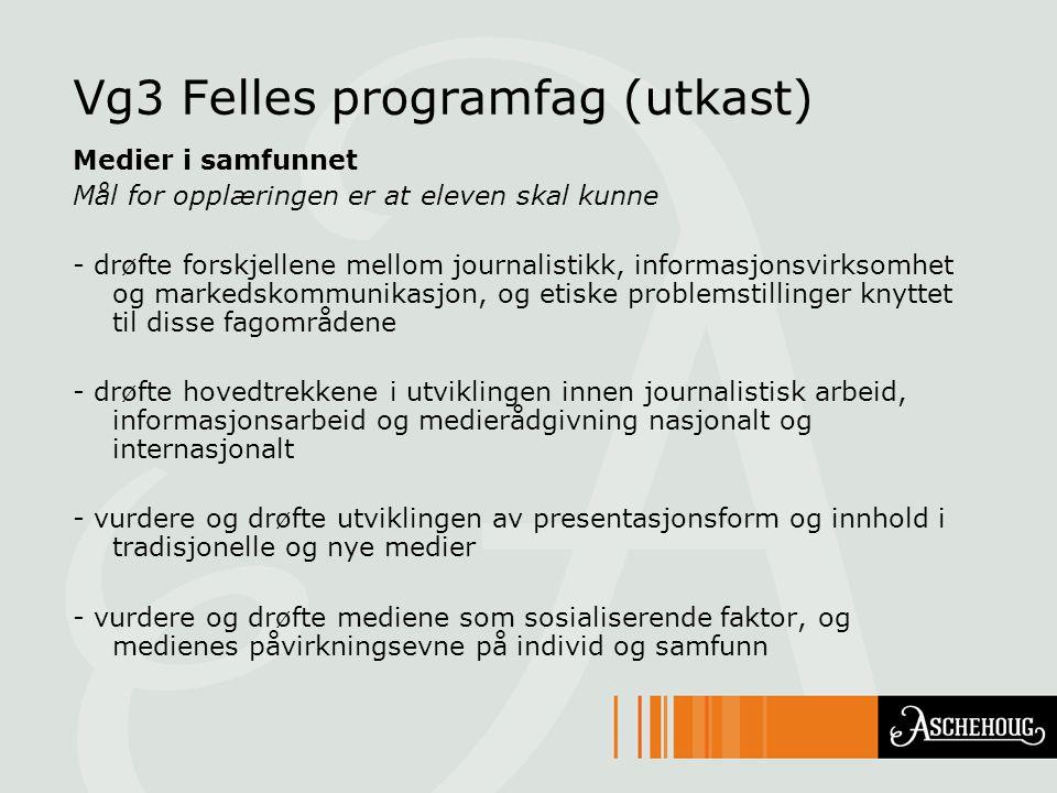 Vg3 Felles programfag (utkast)
