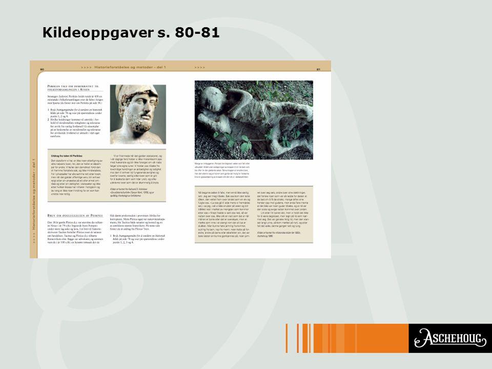 Kildeoppgaver s. 80-81