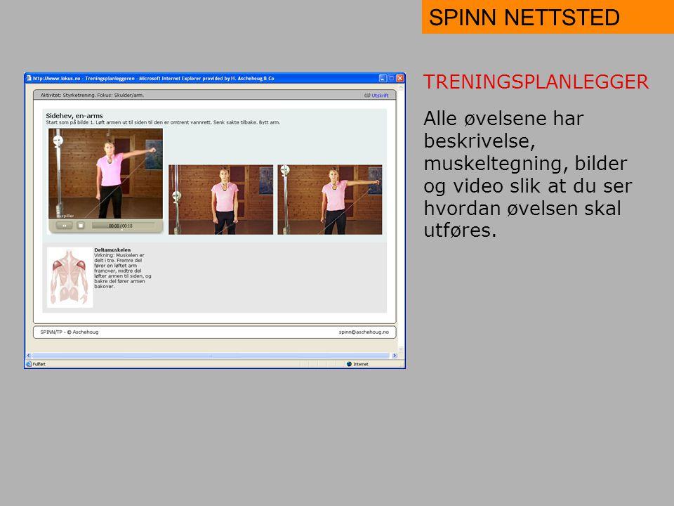 SPINN NETTSTED TRENINGSPLANLEGGER