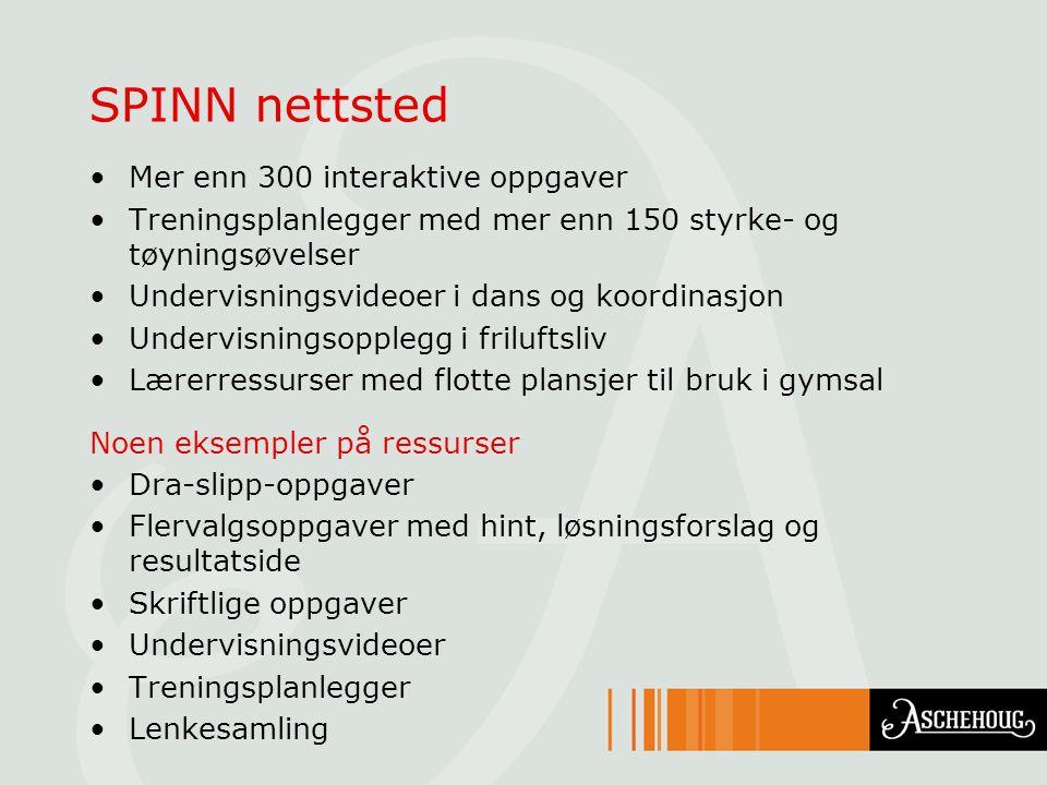 SPINN nettsted Mer enn 300 interaktive oppgaver