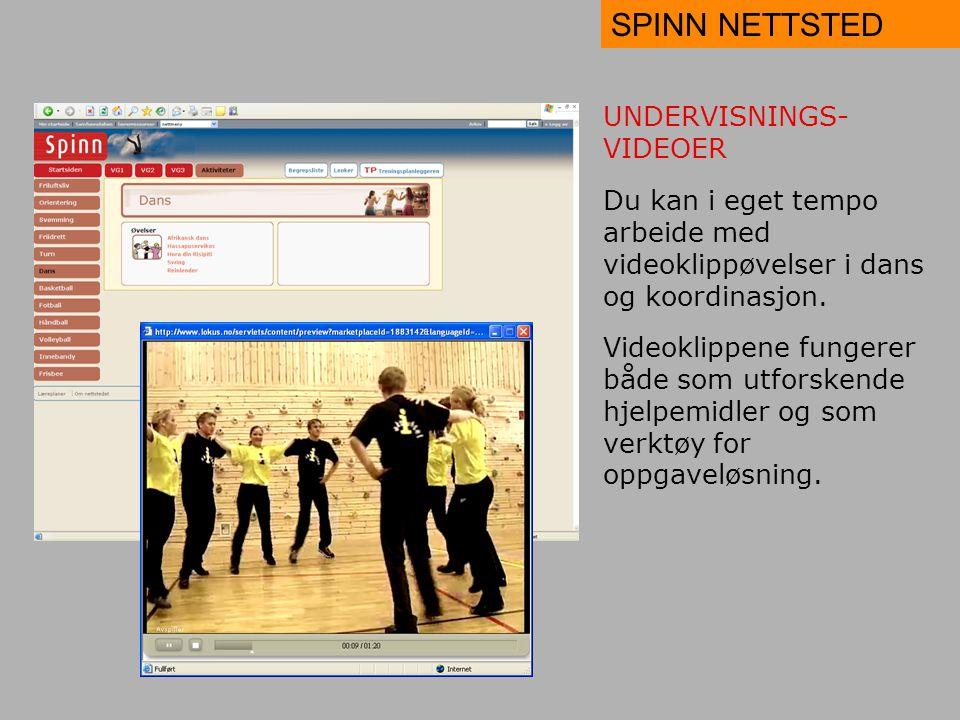 SPINN NETTSTED UNDERVISNINGS-VIDEOER
