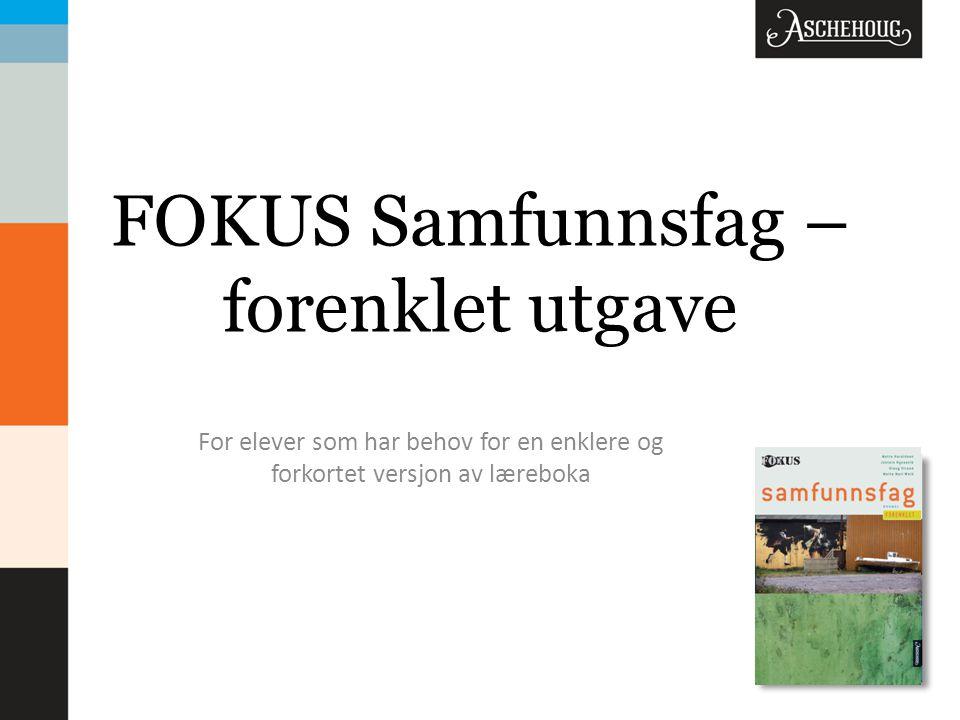 FOKUS Samfunnsfag – forenklet utgave