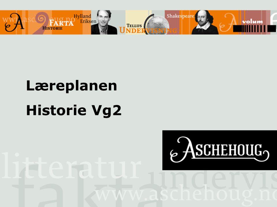 Læreplanen Historie Vg2