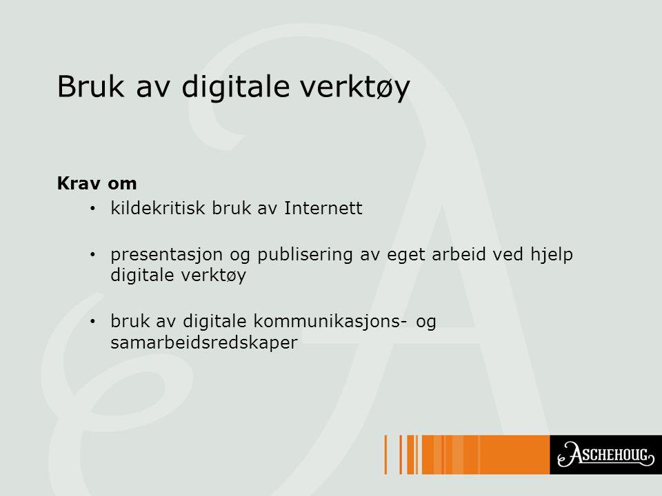 Bruk av digitale verktøy