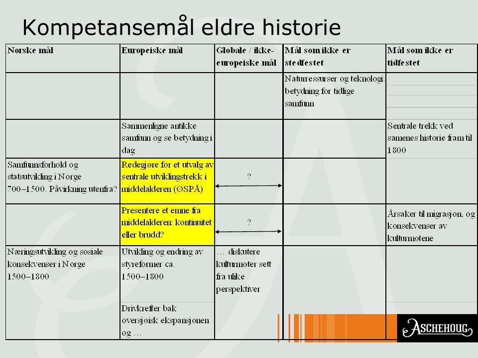 Kompetansemål eldre historie