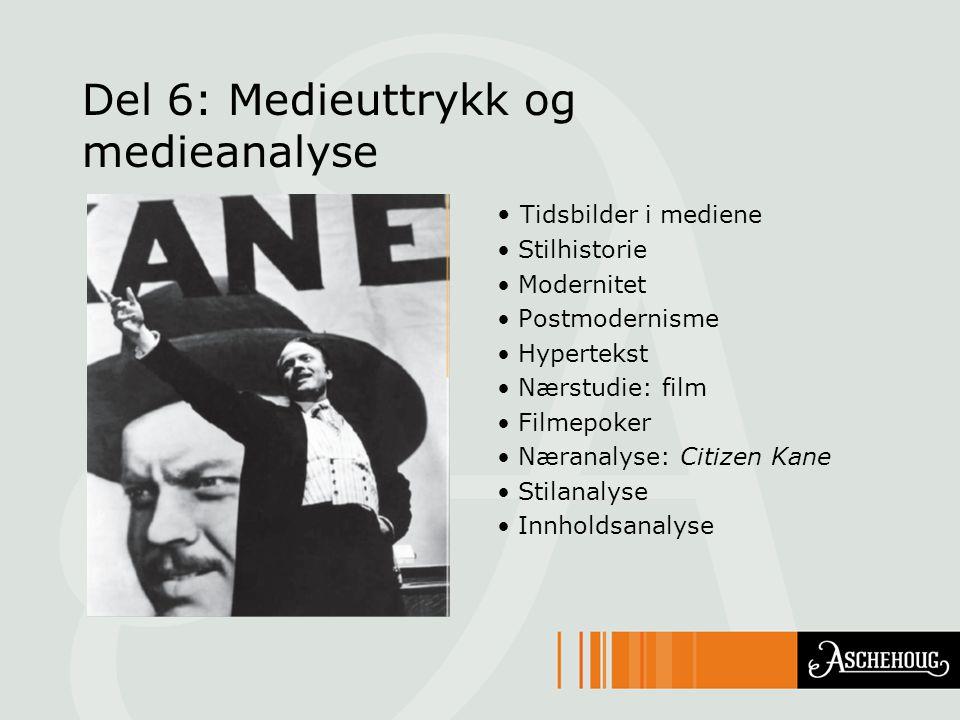 Del 6: Medieuttrykk og medieanalyse