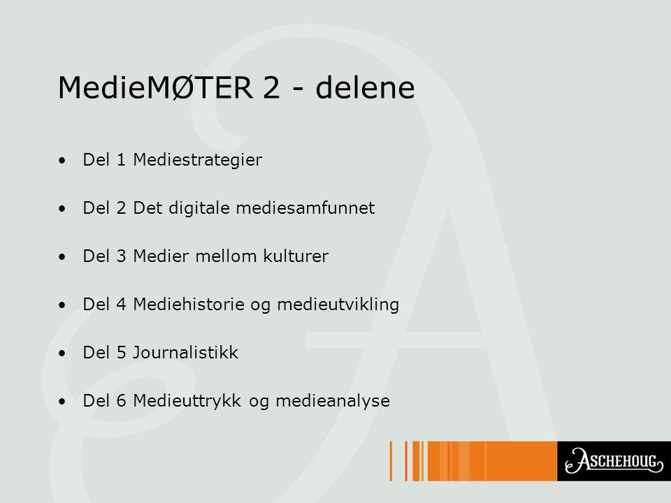 MedieMØTER 2 - delene Del 1 Mediestrategier