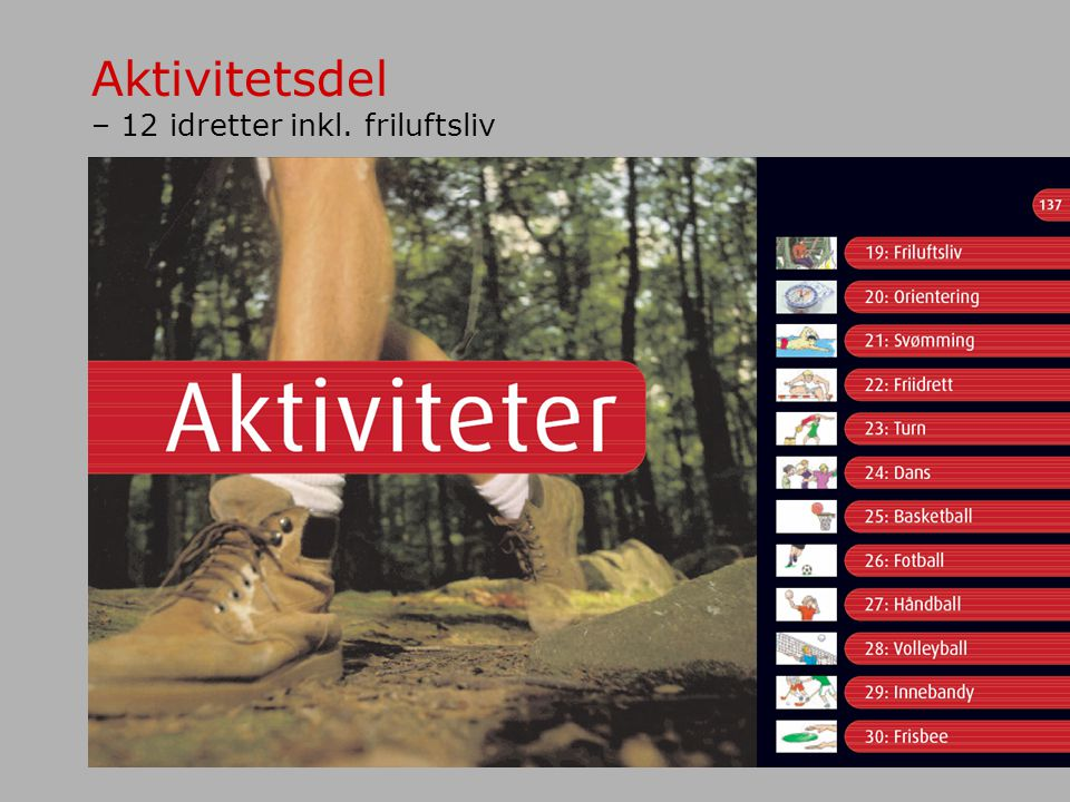 Aktivitetsdel – 12 idretter inkl. friluftsliv