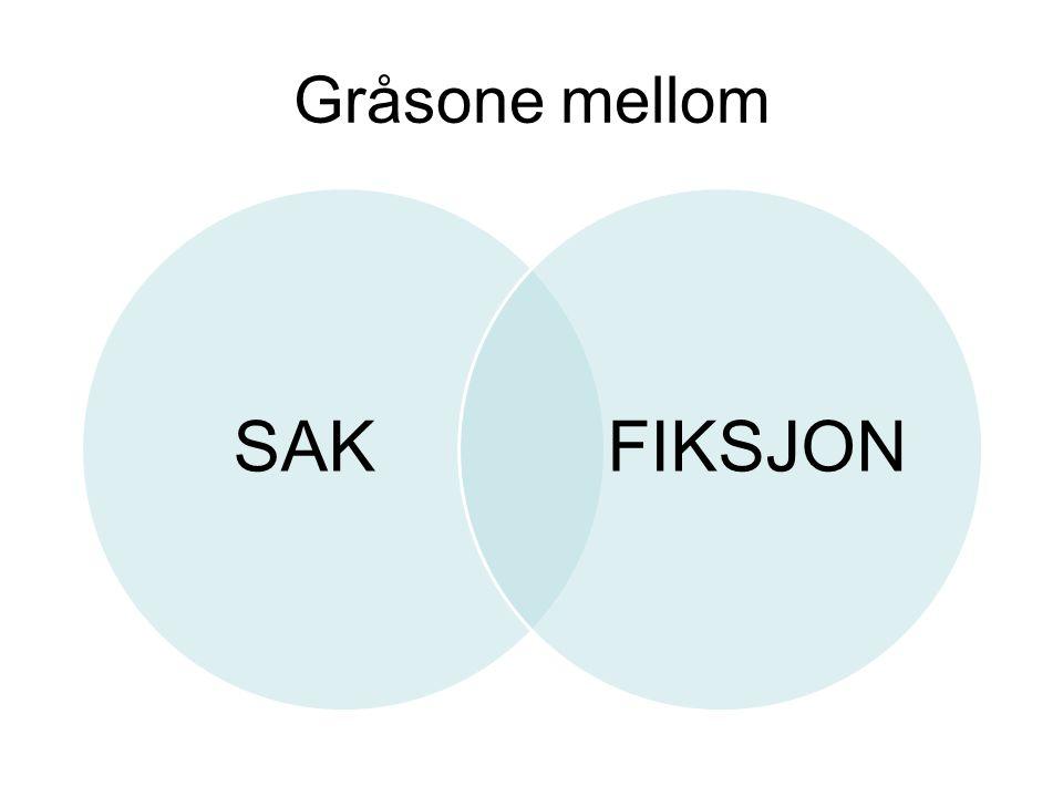 Gråsone mellom SAK FIKSJON