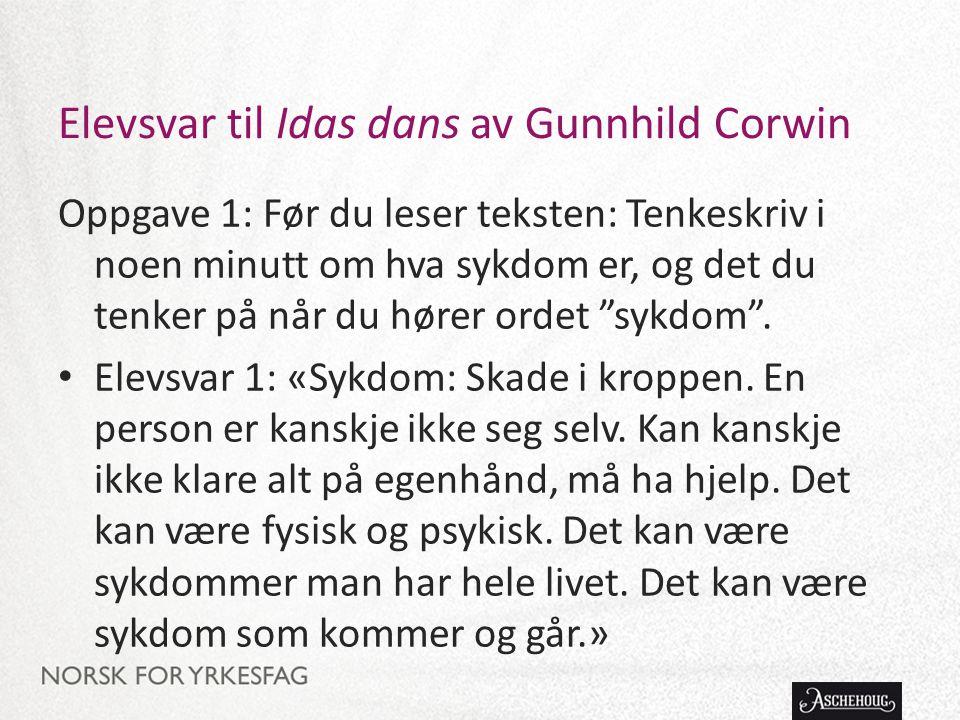 Elevsvar til Idas dans av Gunnhild Corwin