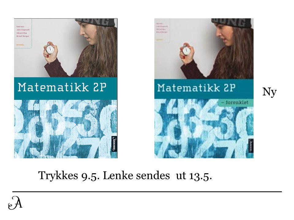 Ny Trykkes 9.5. Lenke sendes ut 13.5.