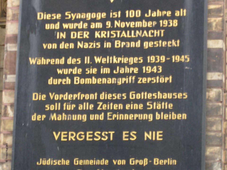 Diese Synagoge ist 100 Jahre alt und wurde am 9