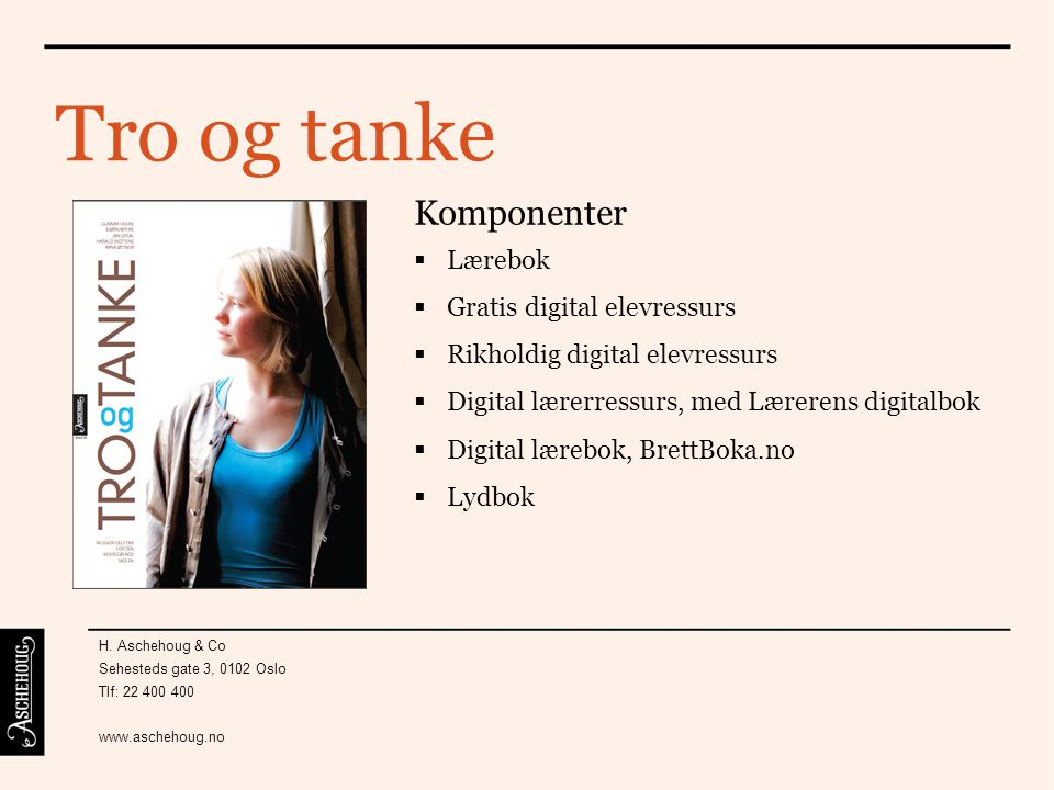 Tro og tanke Komponenter Lærebok Gratis digital elevressurs