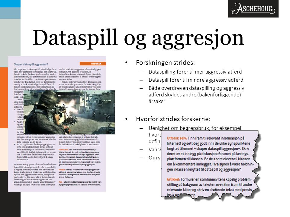 Dataspill og aggresjon
