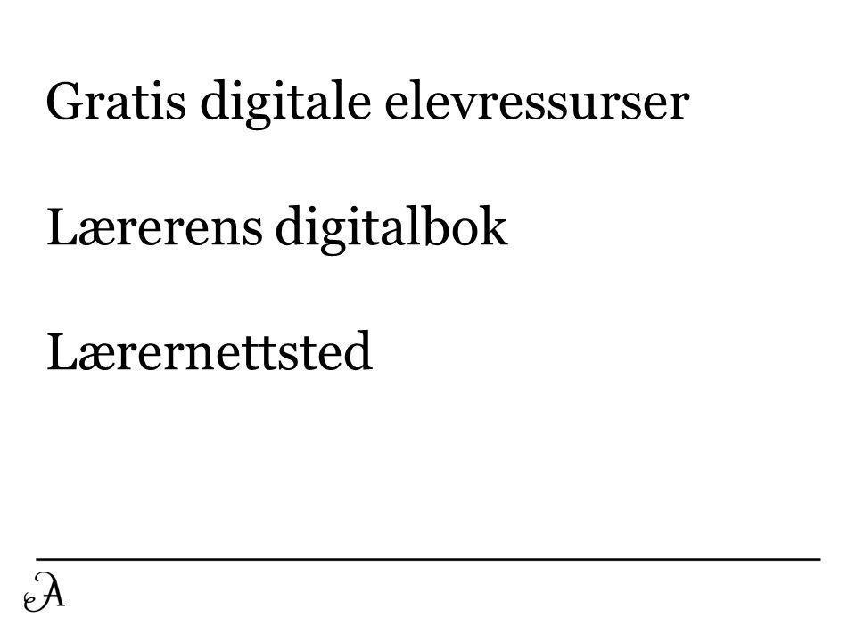 Gratis digitale elevressurser