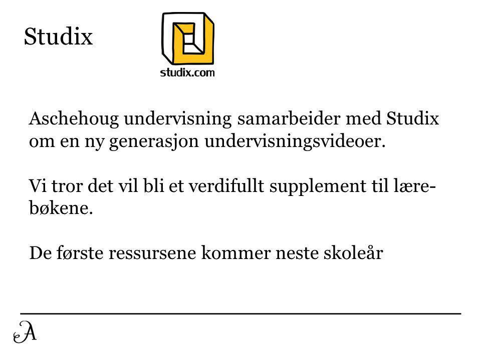 Studix Aschehoug undervisning samarbeider med Studix