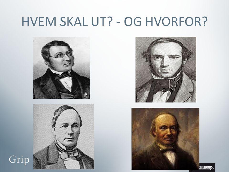 HVEM SKAL UT - OG HVORFOR