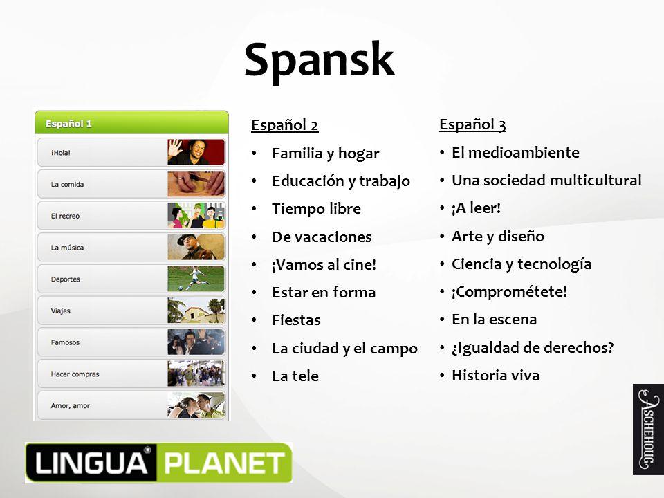 Spansk Español 2 Español 3 Familia y hogar El medioambiente