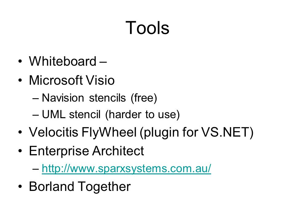 Tools Whiteboard – Microsoft Visio