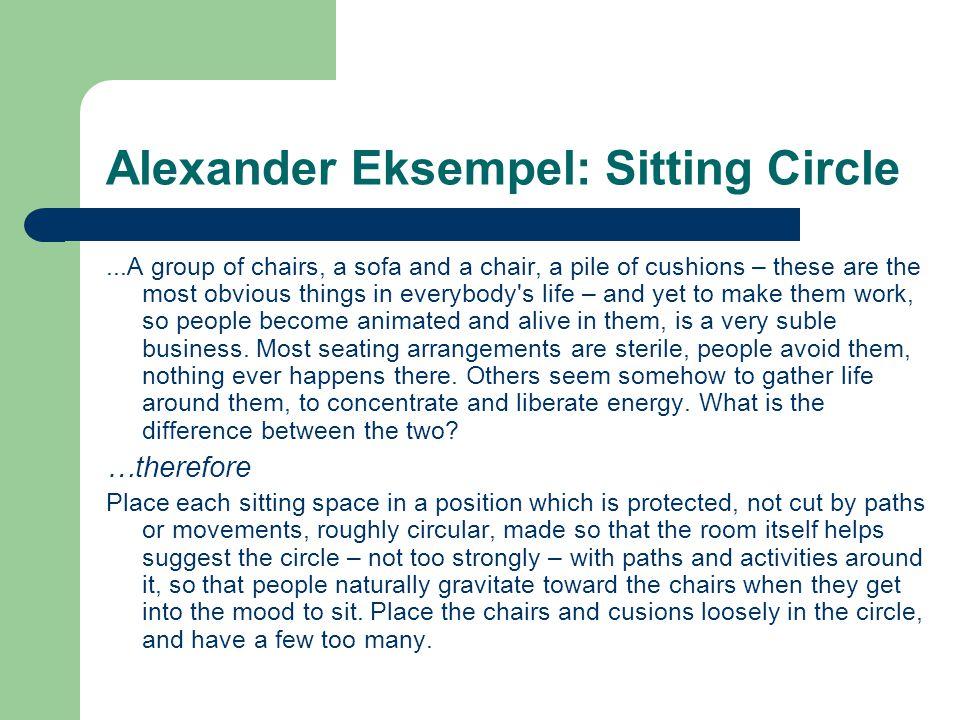 Alexander Eksempel: Sitting Circle