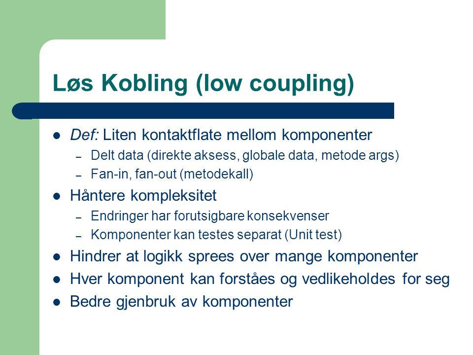 Løs Kobling (low coupling)