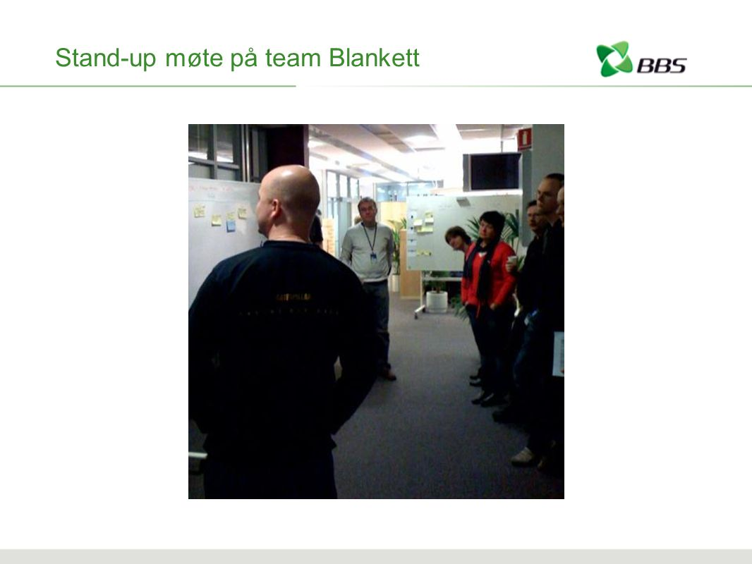 Stand-up møte på team Blankett